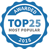 Top 25 Most Popular Tutors badge for 2018